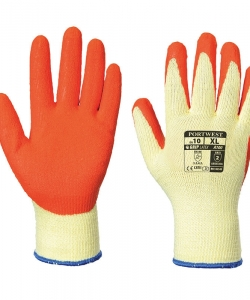 Latex grip glove
